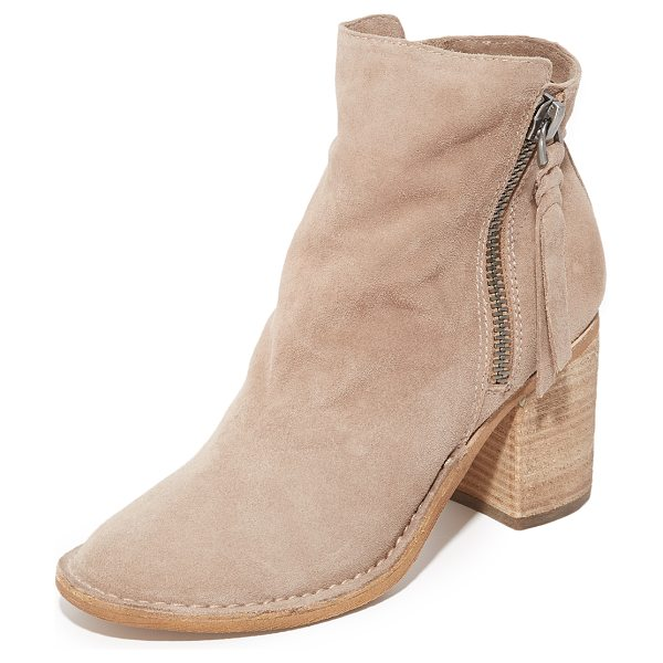 Dolce Vita lana booties in dark taupe - Soft suede Dolce Vita booties detailed with side zips...