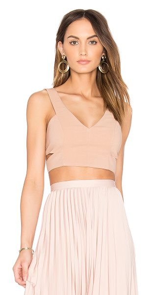 Dolce Vita Lily Bra Top in blush - Poly blend. Dry clean only. Side cut-outs. Exposed back...