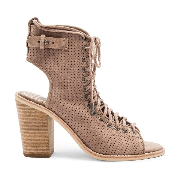 Dolce Vita Loren Heel in taupe - Suede upper with man made sole. Side zip closure....