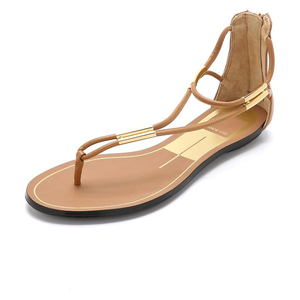Dolce Vita Marnie sandals in caramel - Metal bars join the skinny faux leather strands on these...