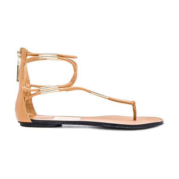 Dolce Vita Mira sandal in tan - Faux leather upper with leather sole. Metallic gold...