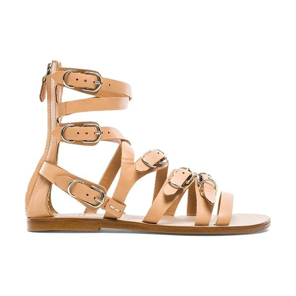 Dolce Vita Okena sandal in beige - Leather upper with man made sole. Multi buckle detail....