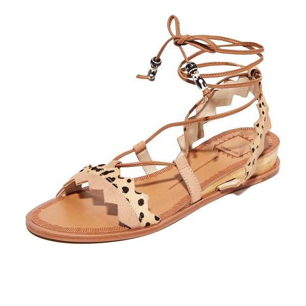 Dolce Vita pedra sandals in blush multi - Zigzag straps composed of cheetah-print haircalf and...