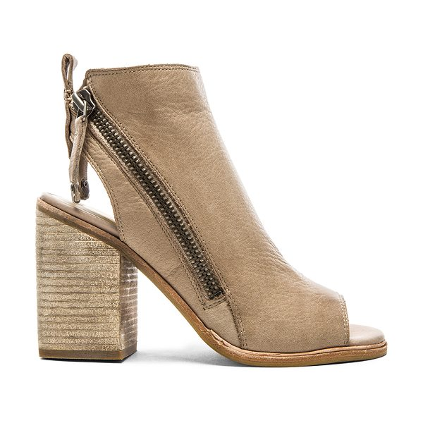 Dolce Vita Port bootie in taupe - Leather upper with man made sole. Heel measures approx...