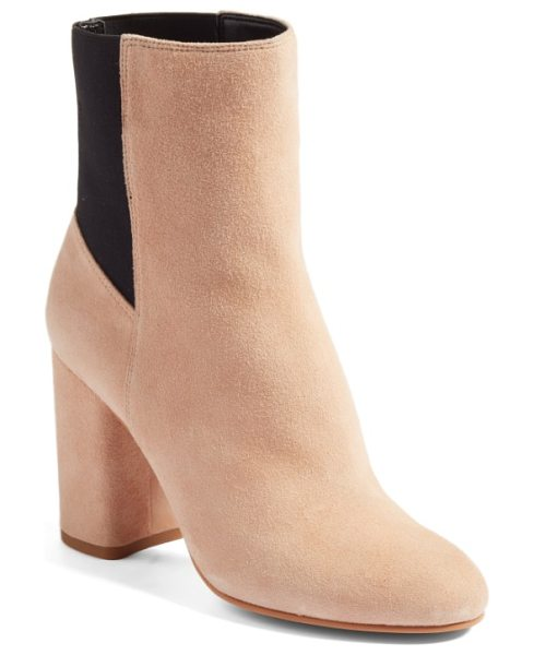 DOLCE VITA ramona double gore bootie - Stretchy elastic-gore paneling streamlines the look of...