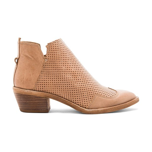 "Dolce Vita Sahira Bootie in tan - ""Leather upper with man made sole. Side zip closure...."