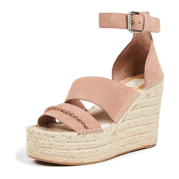 Dolce Vita simi espadrille wedges in clay