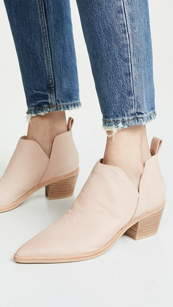 Dolce Vita sonni block heel booties in sand - Leather: Cowhide Boots Chunky heel Platform profile...