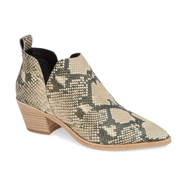 Dolce Vita sonni pointy toe bootie in beige - A deeply notched topline echoes the angles of the pointy...