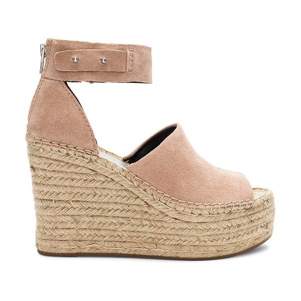 """Dolce Vita Straw Wedge in blush - """"Suede upper with rubber sole. Back zip closure. Ankle..."""
