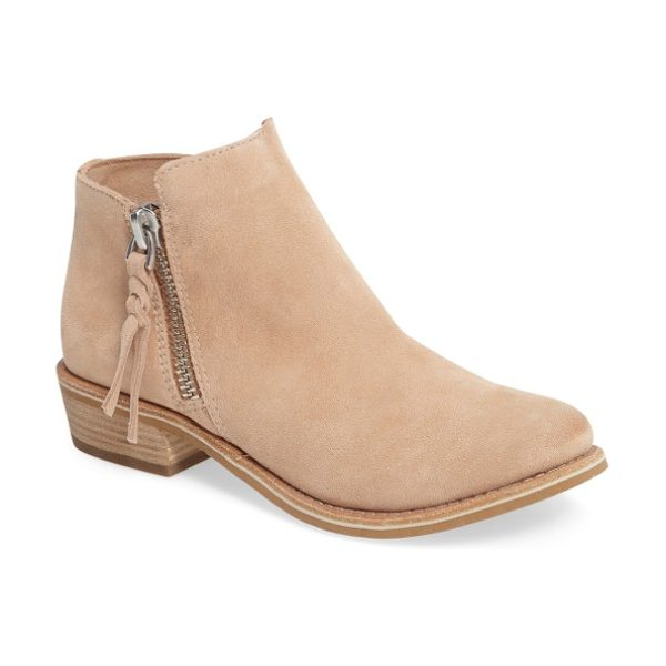 Dolce Vita 'sutton' bootie in blush suede - Dual side zippers offer an edgy touch to a trend-savvy...