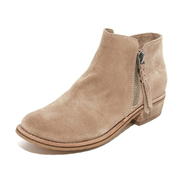 DOLCE VITA sutton booties - Suede Dolce Vita booties in a round-toe profile. Exposed...
