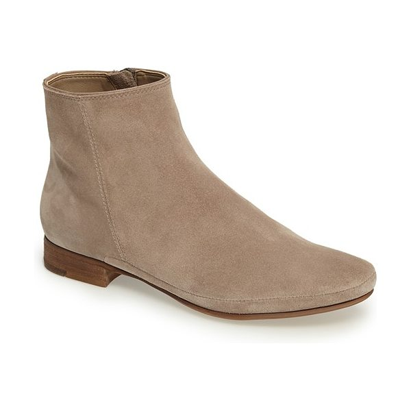 Dolce Vita taj flat bootie in taupe suede - Both on-trend and timeless, this essential soft suede...