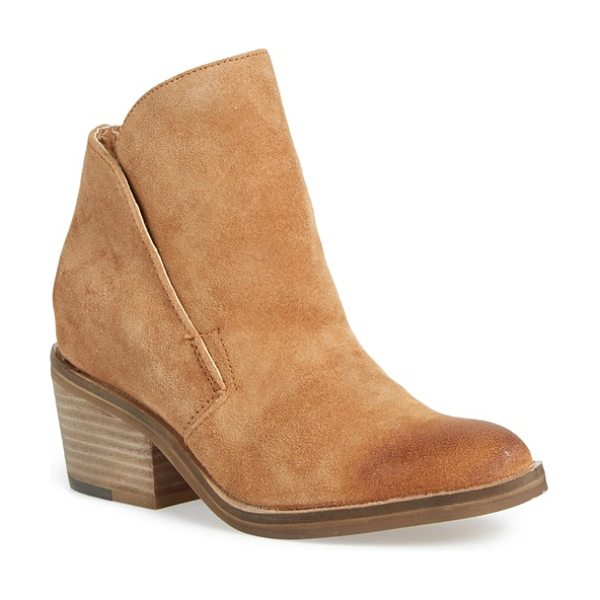 Dolce Vita teague bootie in saddle - A clean-lined profile and lightly distressed leather...