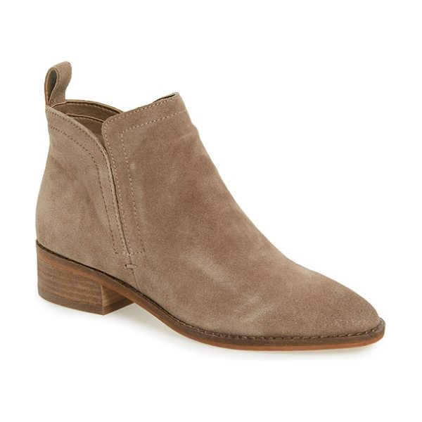 Dolce Vita 'tessey' bootie in dark taupe suede - Hidden side gores ensure a sleek, smooth fit for this...