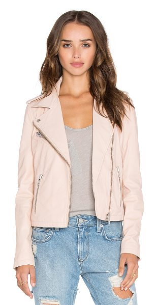 Doma Biker leather jacket in blush - Self: 100% leatherLining: 100% cotton. Professional...