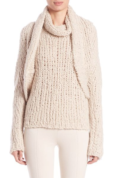 Donna Karan Cashmere boucle shrug in natural - Shrug hand-knit from plush cashmere boucleShawl...