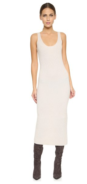 Donna Karan Tank dress in natural - This soft, chic Donna Karan New York tank dress is made...