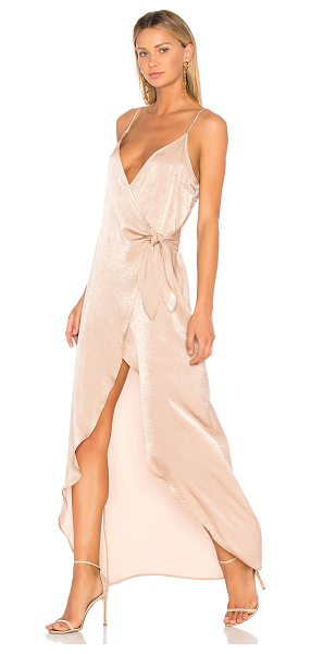 DONNA MIZANI Aurora Maxi Dress in blush - 100% poly. Dry clean only. Unlined. Adjustable shoulder...