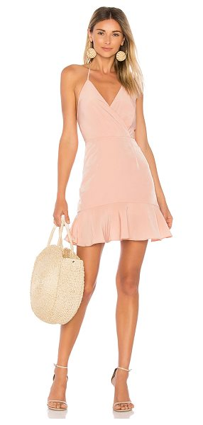 DONNA MIZANI Avery Ruffle Dress - 100% poly. Dry clean only. Fully lined. Halter strap...