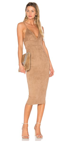 DONNA MIZANI Mara Midi Dress - 90%nylon 10% spandex. Dry clean only. Fully lined....