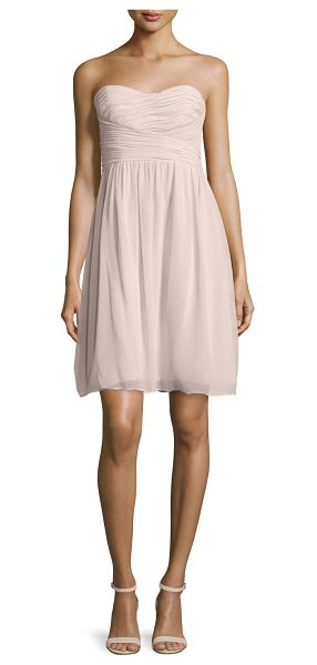"Donna Morgan Strapless Ruched Cocktail Dress in palest pink - Donna Morgan chiffon cocktail dress. Approx. 31""L from..."