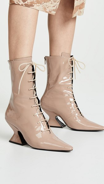 DORATEYMUR radio lace up boots in beige