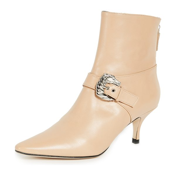 DORATEYMUR saloon booties - Leather: Cowhide Horse embellishment Booties Kitten heel...