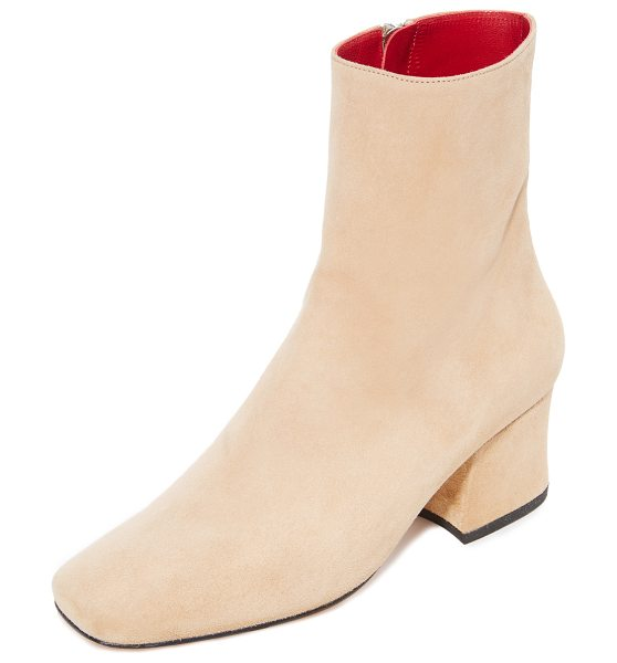 DORATEYMUR sybil leek booties in beige - Stylish Dorateymur booties cut from velvety soft suede....