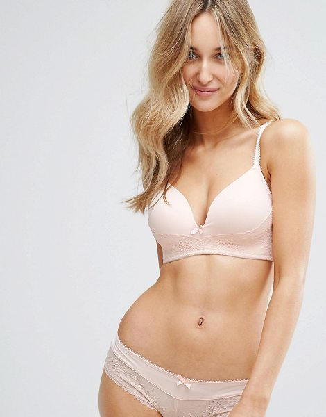"Dorina Dorothy Soft Bra A in pink - """"Bra by Dorina, Smooth stretch fabric, Plunge neck, Bow..."