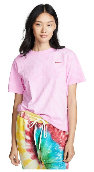 Double Trouble Gang lover t-shirt in pink tie dye