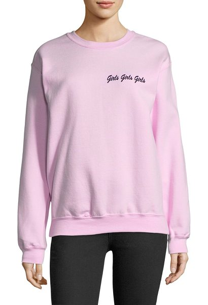 DOUBLE TROUBLE girls girls girls sweatshirt - EXCLUSIVELY AT SAKS FIFTH AVENUE. Cotton-blend...