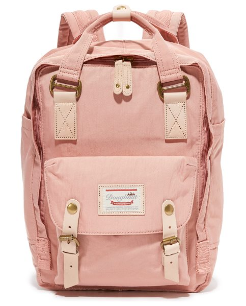 Doughnut macaroon backpack in rose - A colorful Doughnut backpack with natural leather trim....