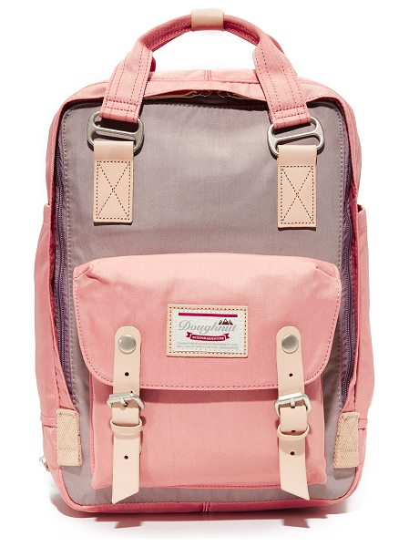 Doughnut macaroon backpack in lavender/rose - A colorful Doughnut backpack with natural leather trim....