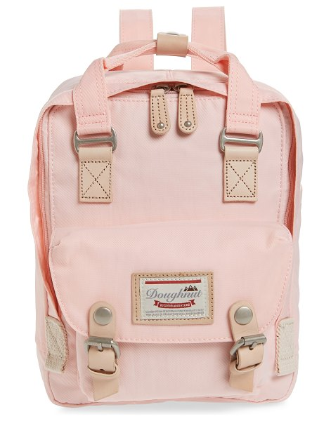 Doughnut mini macaroon water resistant backpack in pink