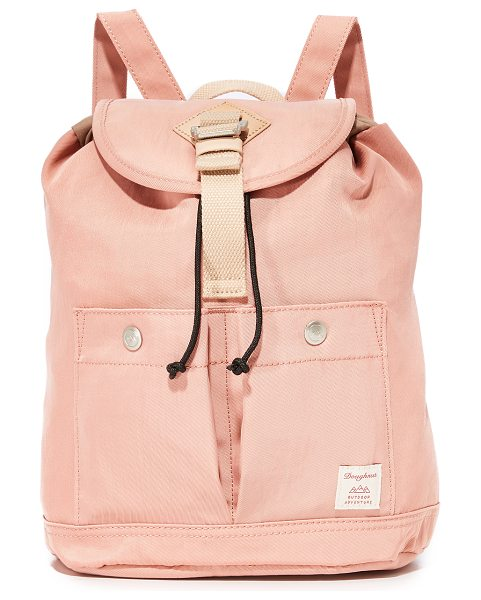 Doughnut montana mini backpack in rose - A scaled-down Doughnut backpack detailed with snap front...