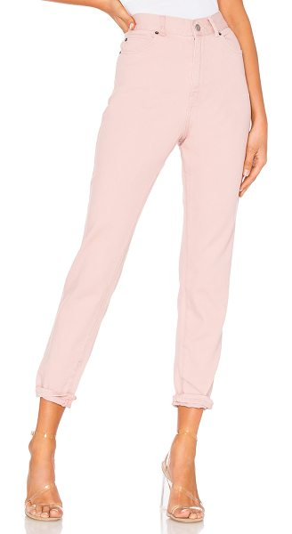 "Dr. Denim Nora Straight in hazy pink - ""100% cotton. Front and back pockets. 14"""" at the knee..."