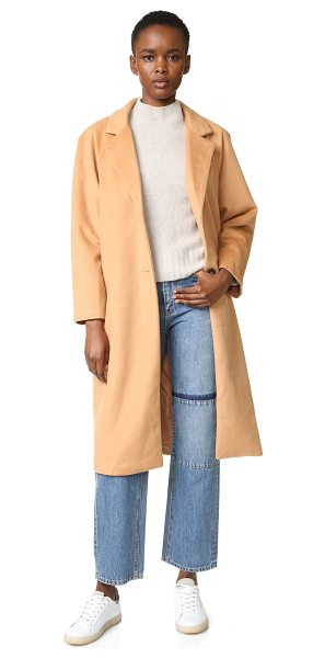 dRA camille coat in camel - A brushed finish lends a classic look to this easy dRA...