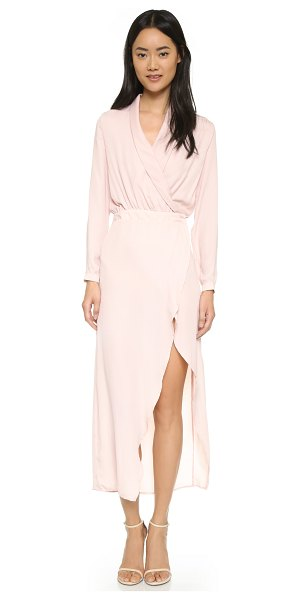 dRA Moira dress in nude - An understated d.Ra maxi wrap dress. Hidden snap...