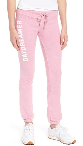Dream Scene daydreamer skinny sweatpants in pink - Wile away the day in the supreme comfort of skinny...