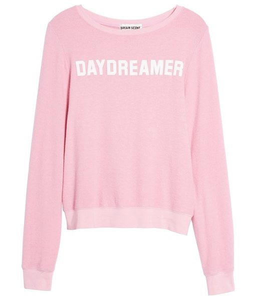 Dream Scene daydreamer sweatshirt in pink - A cozy-chic sweatshirt in a pretty pink hue is...