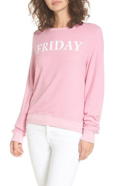 Dream Scene friday sweatshirt in pink - Celebrate the start of the weekend in style with this...
