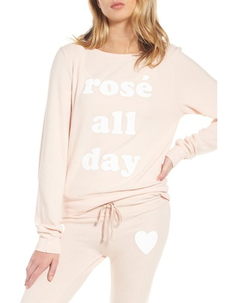Dream Scene rose all day sweatshirt in rose - Why wait till 5:00 to break out the rose when you've got...