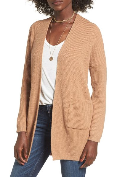 DREAMERS BY DEBUT grandpa cardigan in camel - This cozy, wear-everywhere sweater has a...