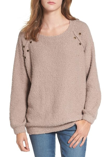 DREAMERS BY DEBUT grommet detail sweater - Burnished grommets add subtle punk edge to this slouchy,...