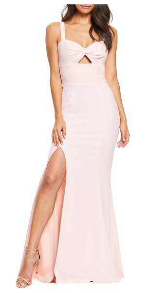 Dress the Population brooke twist front gown in pink