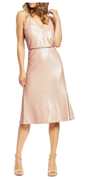 Dress the Population cameron sequin blouson dress in pink