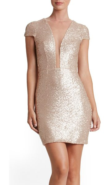 Dress the Population kylie sequin minidress in pale blush - Ah, the fun in being the center of attention. Style...
