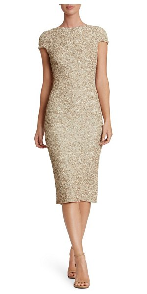DRESS THE POPULATION marcella sequin midi dress - Dazzle through the evening in this slinky midi gown that...
