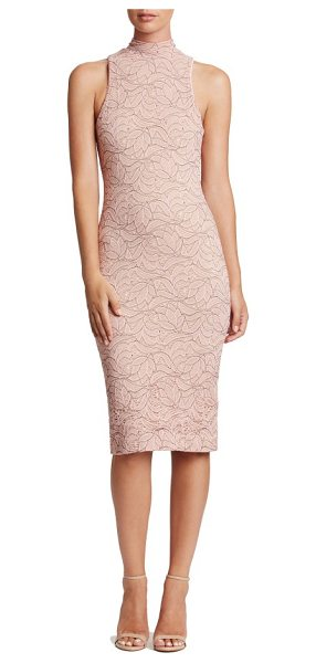 Dress the Population norah body-con dress in pink/ nude - You got it-flaunt it.